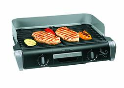 Emeril by T-fal TG8000 XL Griller with Two Independent Tempe