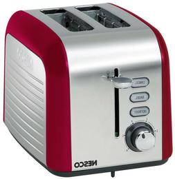 Nesco Everyday Two Slice Toaster Chrome, Red, 1 ea