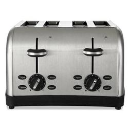 Extra Wide Slot Toaster, 4-Slice, 12 3/4 x 13 x 8 1/2, Stain