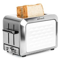 Fortune Candy Toaster 2 Slice, Compact Stainless Steel 2 Sli