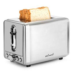 Fortune Candy Toaster 2 Slice Stainless Steel, Compact Retro