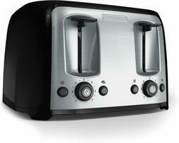 Four Slice Toaster Extra Wide Slots Bread Bagel Bun Waffle K