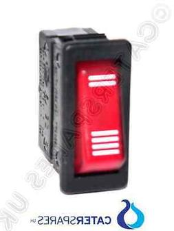 GENUINE DUALIT 2/4 SLICE SELECTOR SWITCH 230V 3 PIN RED NEON