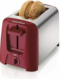 Hamilton Beach Cool Wall Chrome Exterior 2-Slice Toaster & T