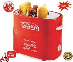 Nostalgia HDT600COKE Coca-Cola Pop-Up 2 Hot Dog and Bun Toas