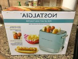 Nostalgia HDT900AQ Two Hot Dog and Buns Pop-Up Toaster, Aqua