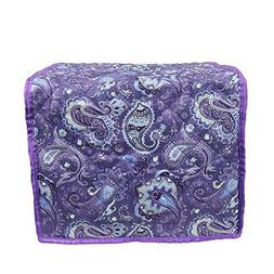 Home Dining Kitchen Dustproof Purple Foldable Toaster Cover