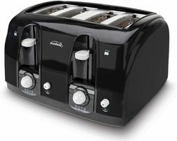 HOT!4 Slice Toaster Bread Electric Four Wide Slots Bagel Kit