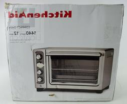 KitchenAid KCO253CU Compact Convection Oven Silver New/Open
