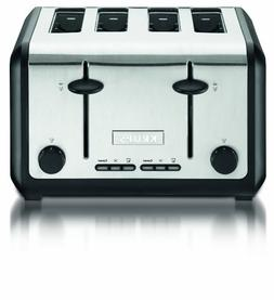 KRUPS KH724D 4-slice Toaster with stainless steel housing,Si