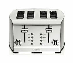 KRUPS KH734D Breakfast Set 4-Slot Toaster with Brushed and C