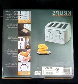 KRUPS KH734D50 Breakfast Set 4-Slot Toaster with Brushed and