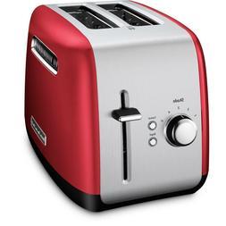 New KitchenAid Kmt2115er 2 Slice Red Stainless Steel Toaster