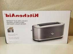KitchenAid KMT4116CU 4 Slice Long Slot Toaster with High Lif