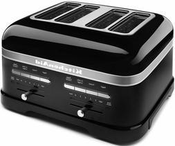 KitchenAid KMT4203OB Onyx Black 4-Slice Pro Line Toaster