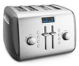 KitchenAid Digital Display R-KMT422QG 4-Slice Toaster Grey &