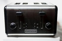 KitchenAid KMTT400OB 4-Slice Metal Toaster, Onyx Black and S
