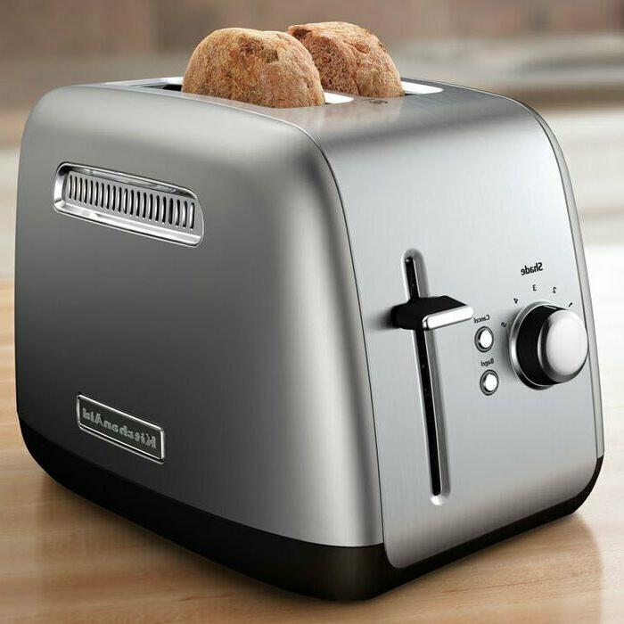 2 slice all metal toaster in contour