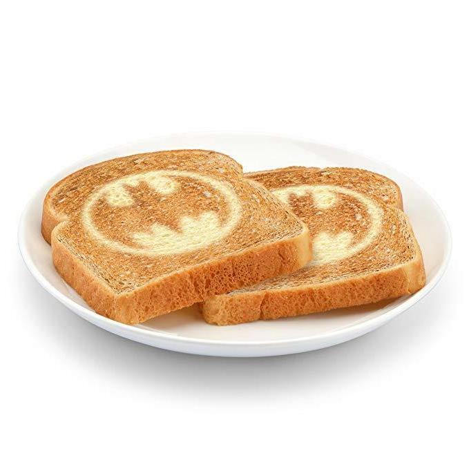 DC Batman Bread Toaster Iconic Imprint on Toast