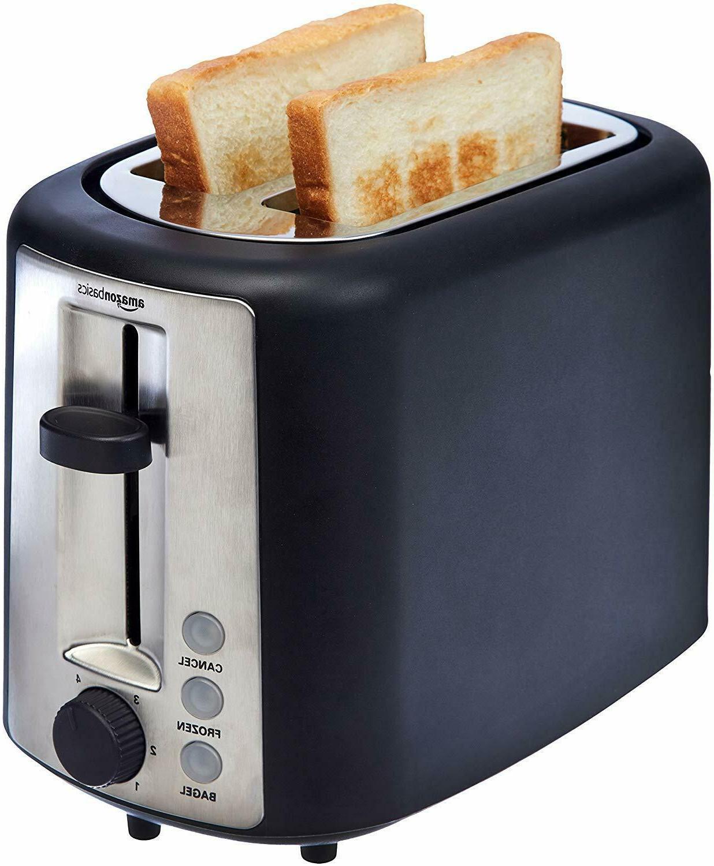AmazonBasics Slice Extra Wide Slot Toaster Black