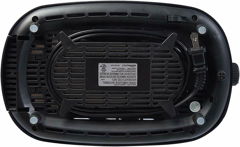 AmazonBasics Wide Toaster Black