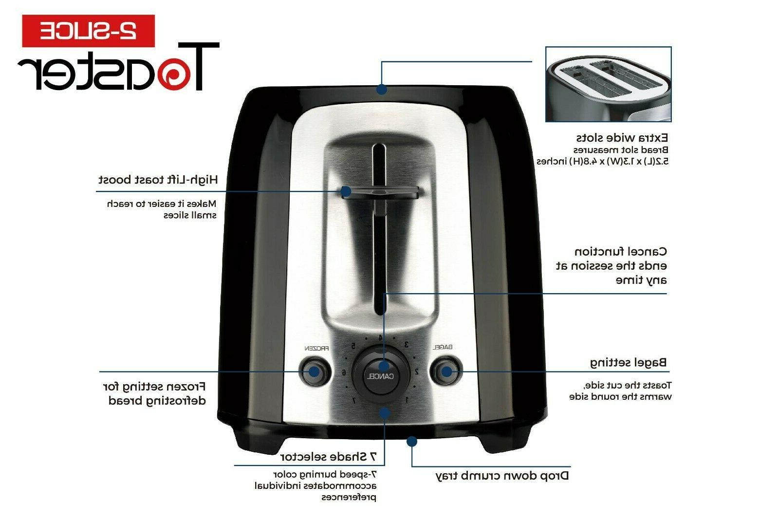 Culinary Edge Wide Toaster With High Lift Lever