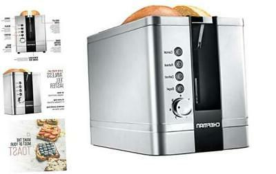 2 slice pop up stainless steel toaster