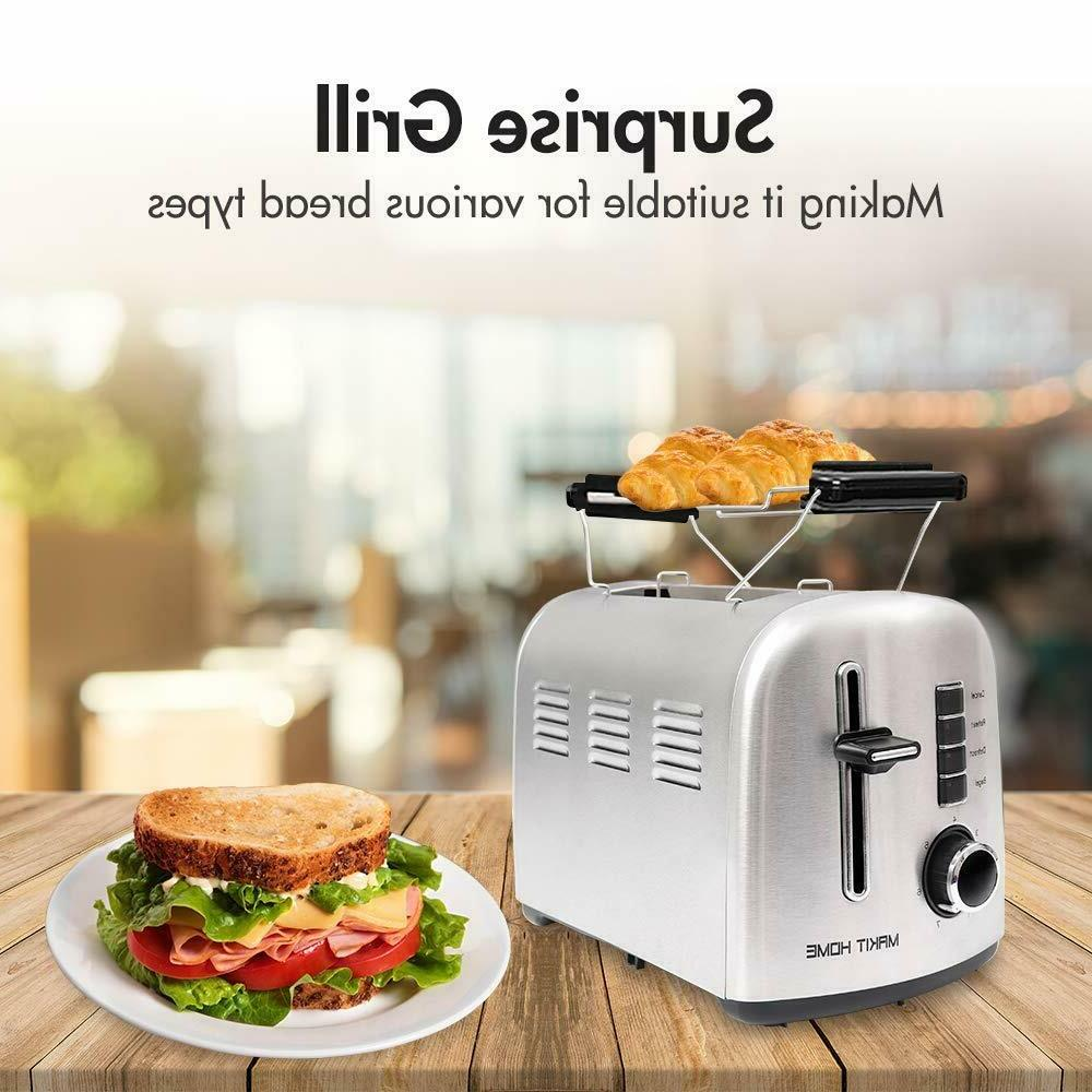 Toaster Extra with Manual Lift Silver