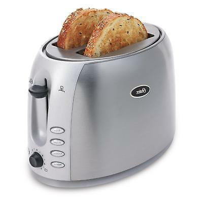 2 slice toaster brushed stainless steel 006594