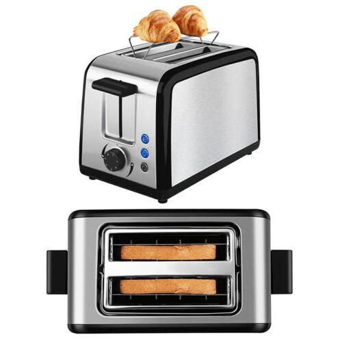 2 Slice Toaster Defrost Warming Rack Premium Brushed Stainle