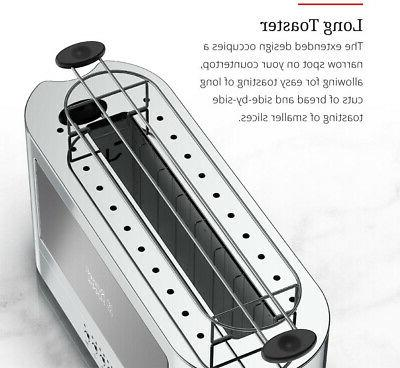 RUSSELL 2-Slice Toaster Glass Black / Stainless