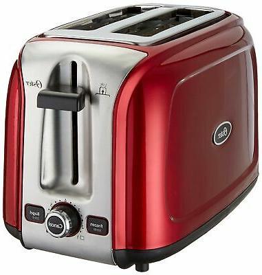 2 slice toaster metallic red tssttr2srd
