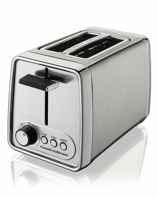 2-Slice Toaster Oven 22791 Silver Hamilton Beach Modern Chro