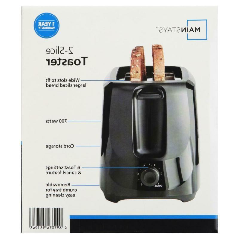 Mainstays 2-Slice Toaster SELLER/FAST
