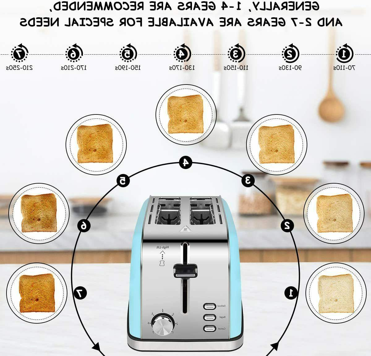 2-Slice-Toasters Bread Steel Compact Toaster Extra-Wide-slots