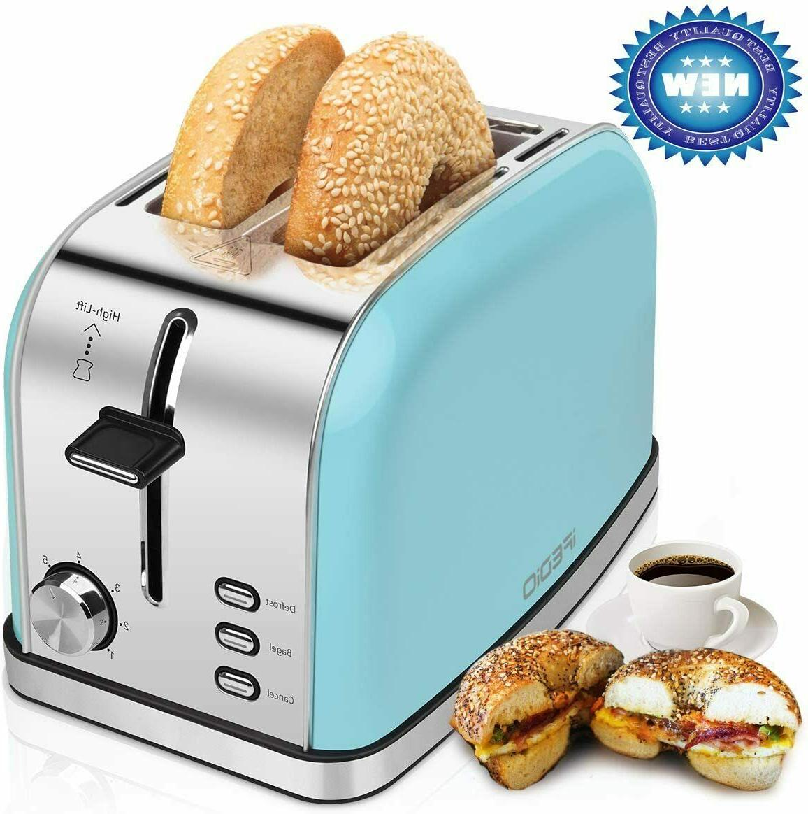 2 slice toasters bread stainless steel compact