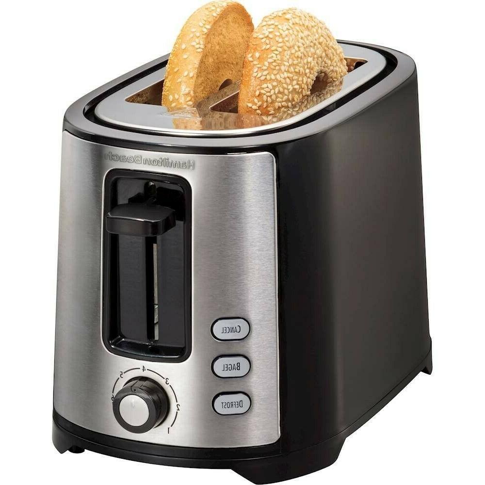 2 slice wide slot toaster black
