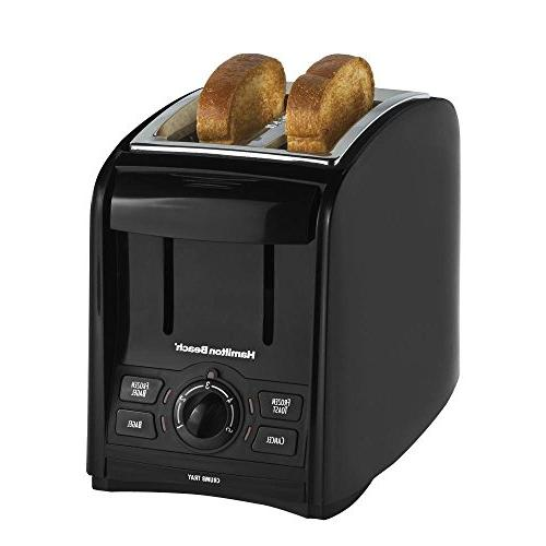 Hamilton Beach 22121 Black 2 Slice Smart Toast Toaster