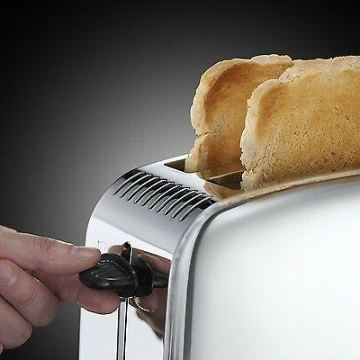 Russell Long Slot 2 Slice Toaster Stainless S...