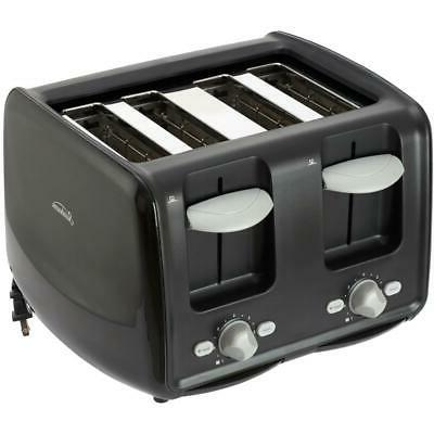 4 slice black toaster with extra wide