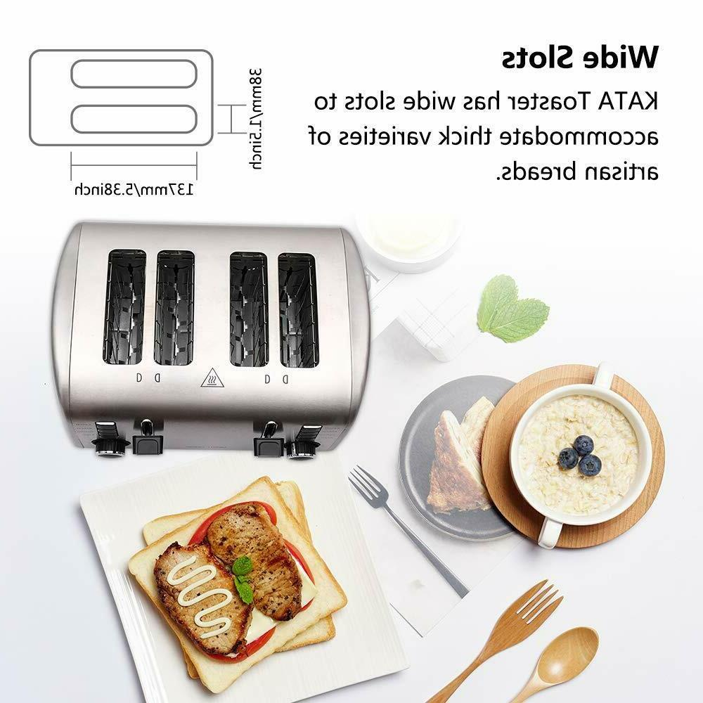 4 Slice Stainless Extra Wide Slot Bread Lift