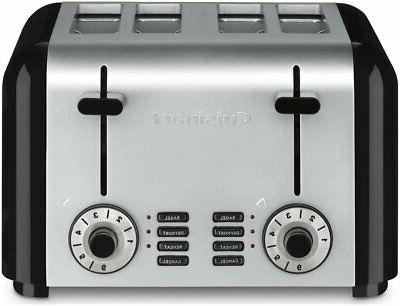 4 slice compact toaster stainless steel