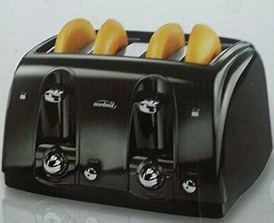 Sunbeam 4-Slice Extra-Wide Slot Toaster Black TSSBTR4SBK