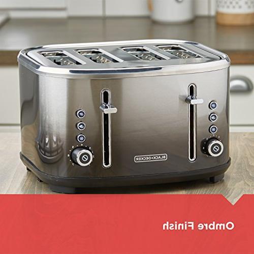 BLACK+DECKER 4-Slice Toaster, Finish,
