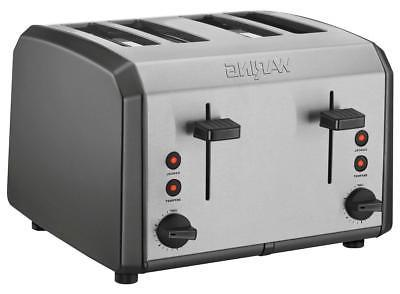 Waring Pro - 4-Slice Toaster - Black/stainless steel