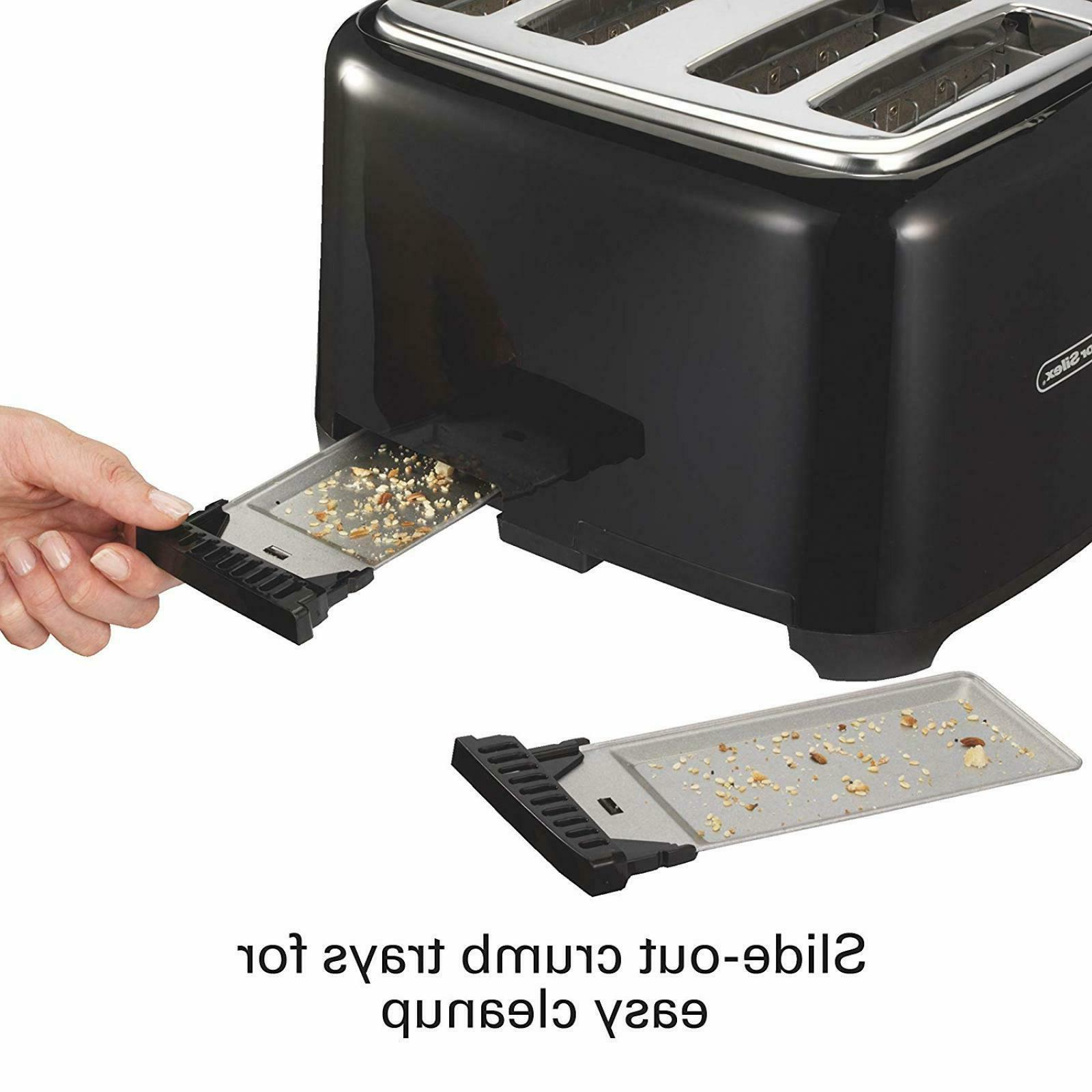 4 Toaster Electric Four Wide Bagel Digital New