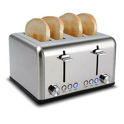 4 Slice Toaster Bread Electric Bagel Digital US