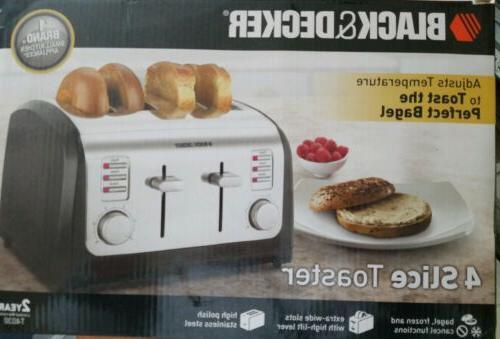 BLACK+DECKER 4-Slice Toaster, Steel, T4030