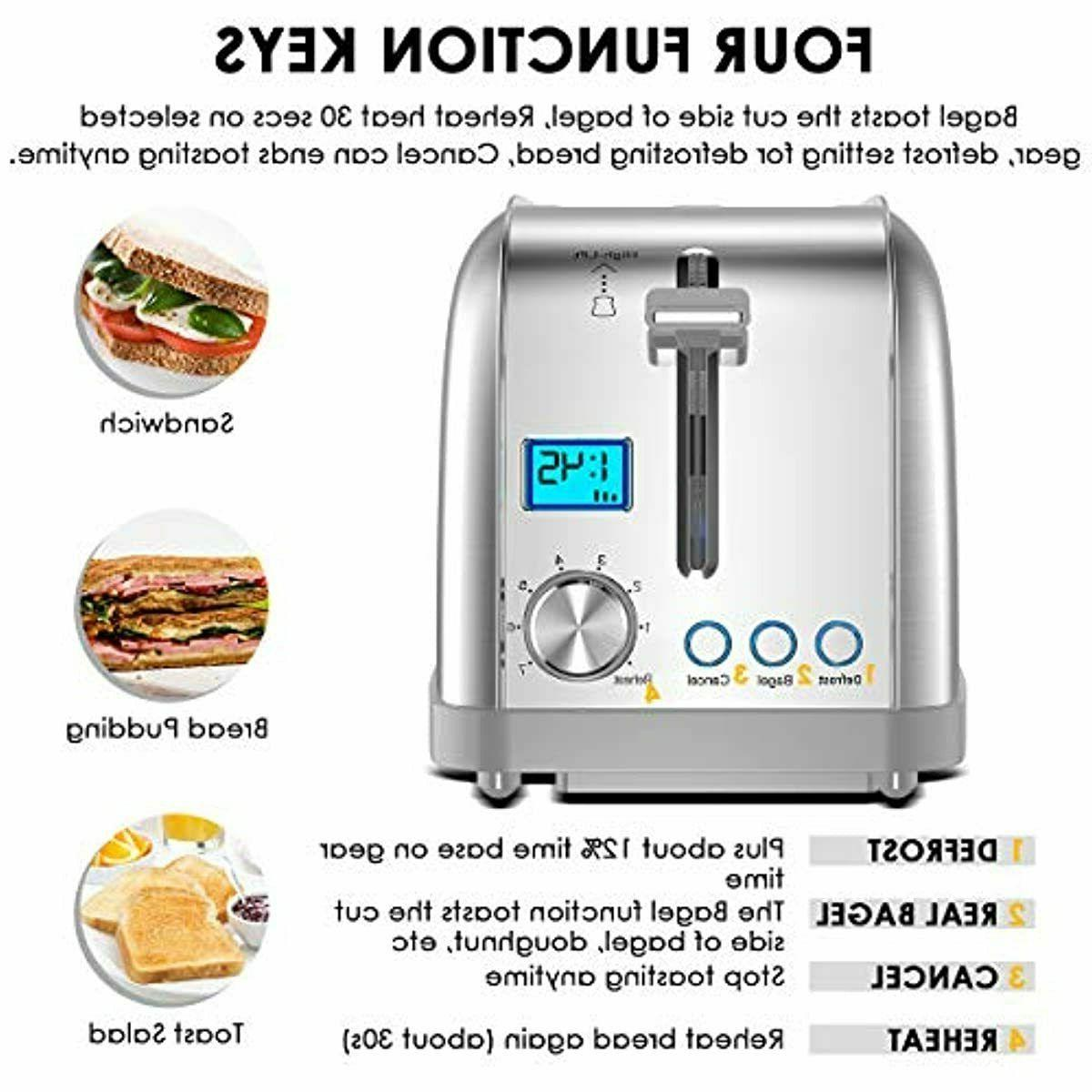 4 Long Slot Toasters Best Rated Prime Stainless Ba