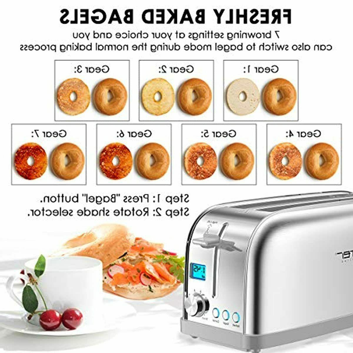 4 Slice LOFTer Long Slot Toasters Best Rated Stainless Steel Ba